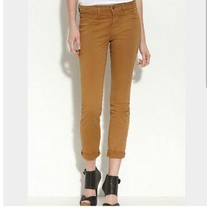 J Brand Pencil Leg Mid Rise Pants - Tucson Khaki